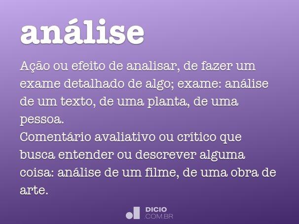 an�lise