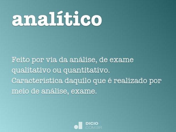 anal�tico