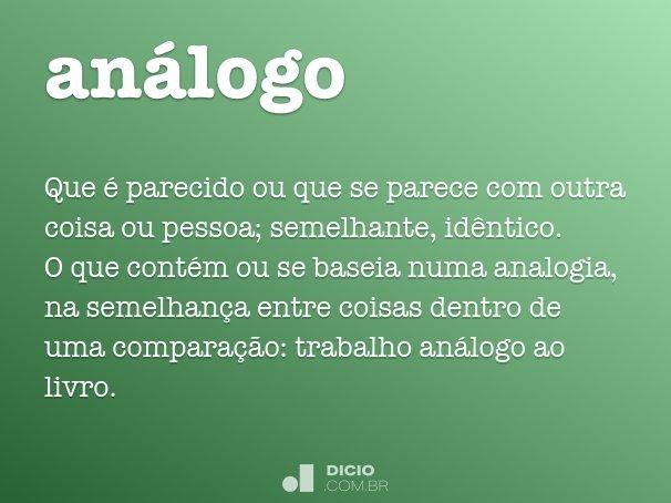 análogo
