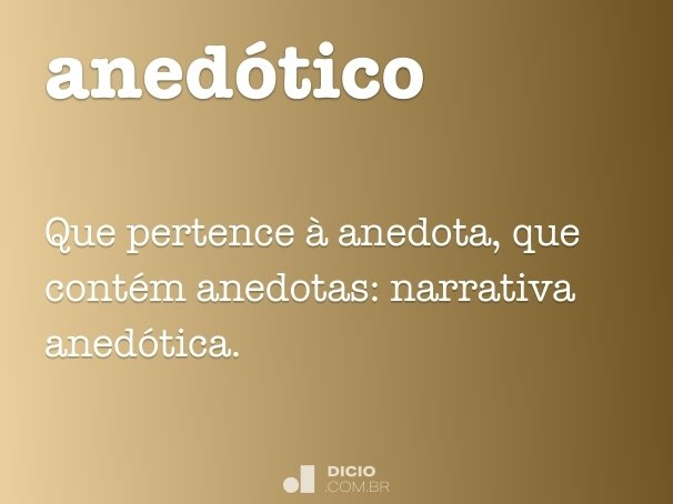 anedótico