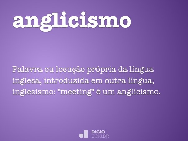 anglicismo