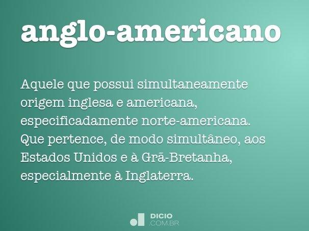 anglo-americano