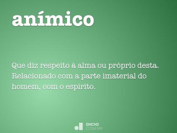 anímico
