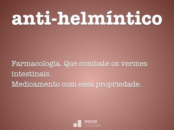 anti-helmíntico