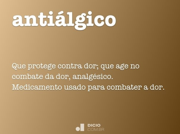 antiálgico