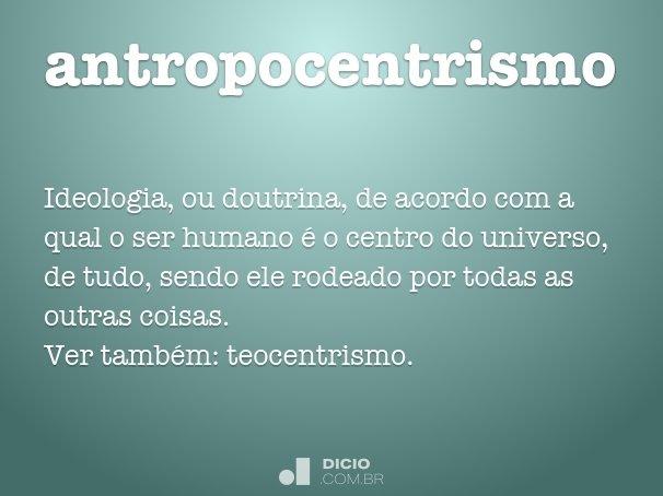 antropocentrismo