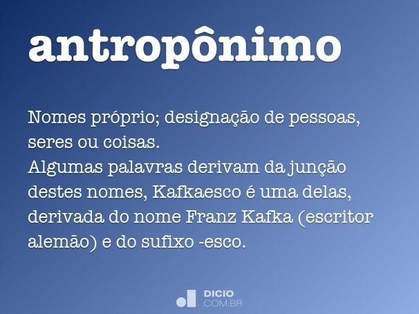 antropônimo