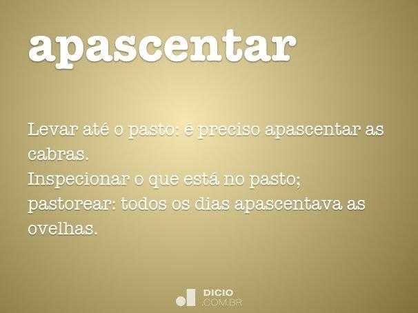 apascentar
