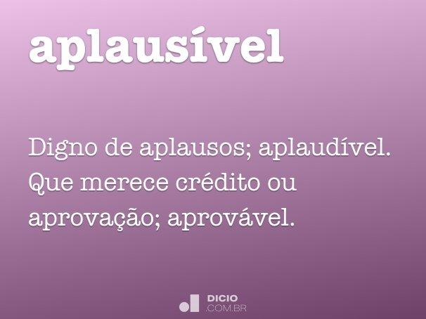 aplaus�vel