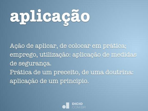 aplica��o