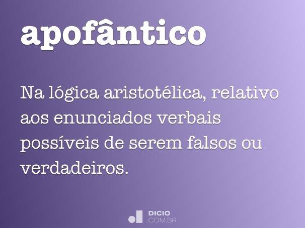 apof�ntico