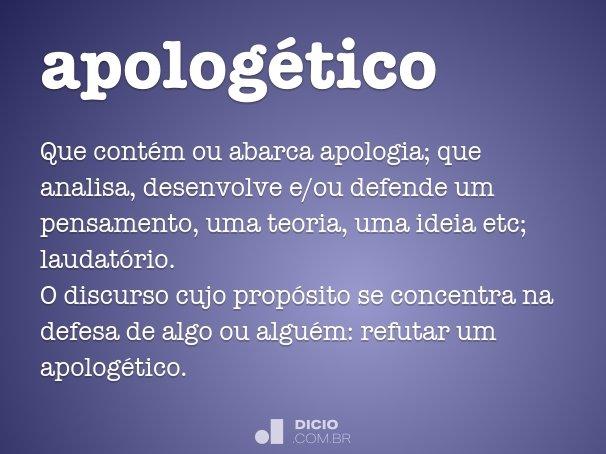 apolog�tico