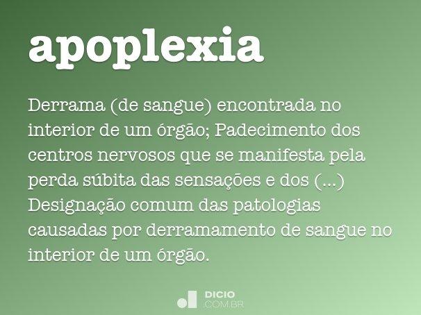 apoplexia