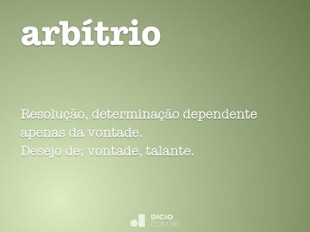 arbítrio