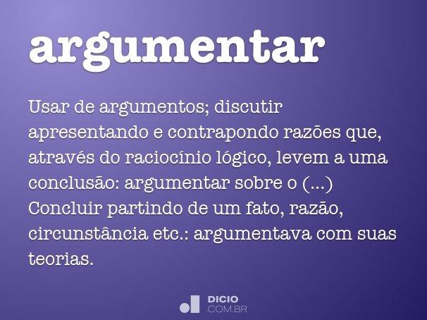 argumentar