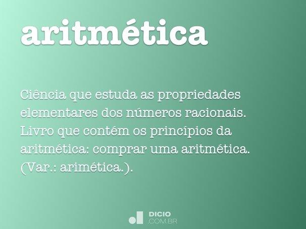 aritm�tica