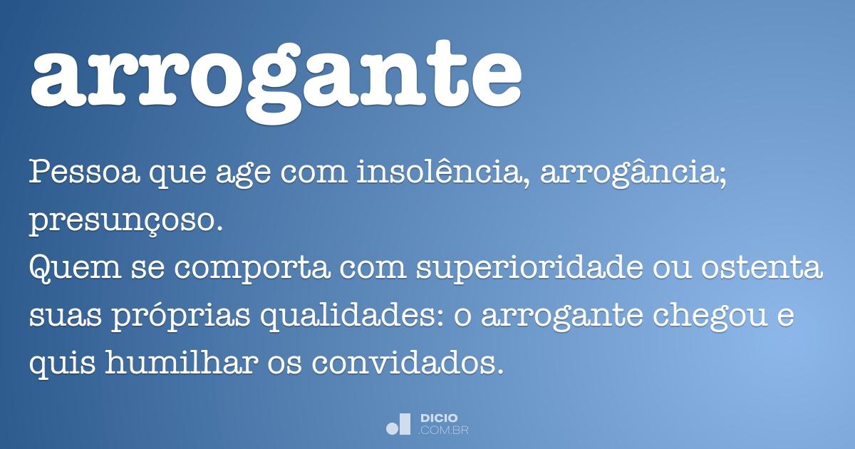 Arrogante