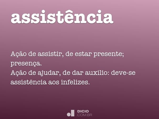assist�ncia