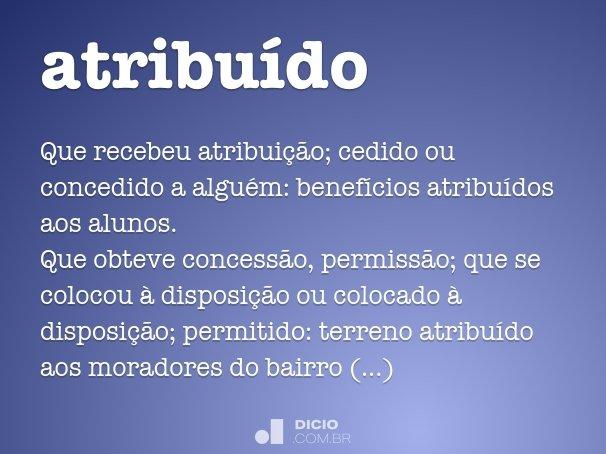 atribu�do