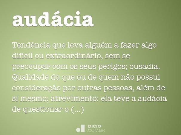 aud�cia