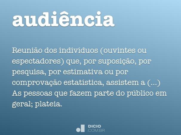 audi�ncia