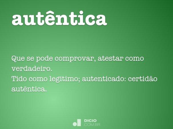 autêntica
