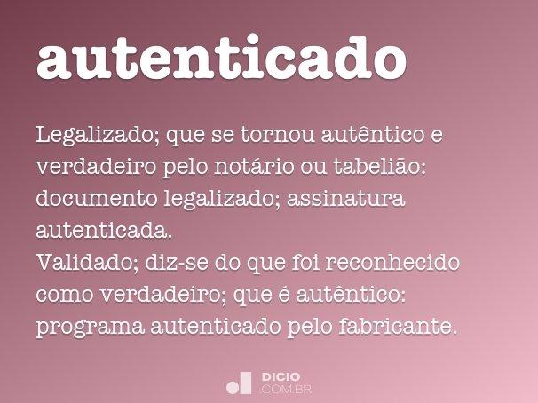 autenticado