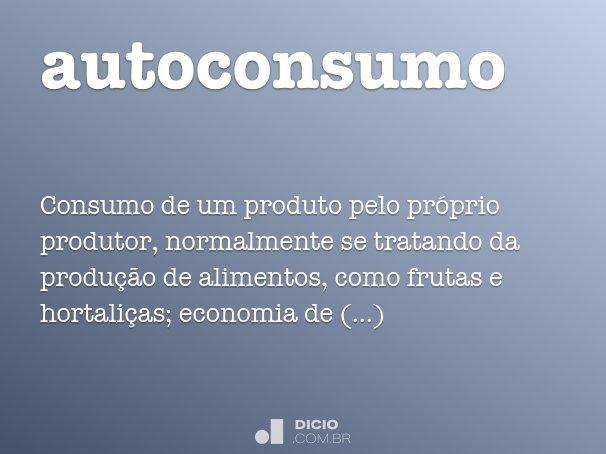 autoconsumo