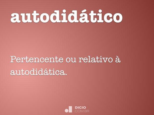 autodid�tico