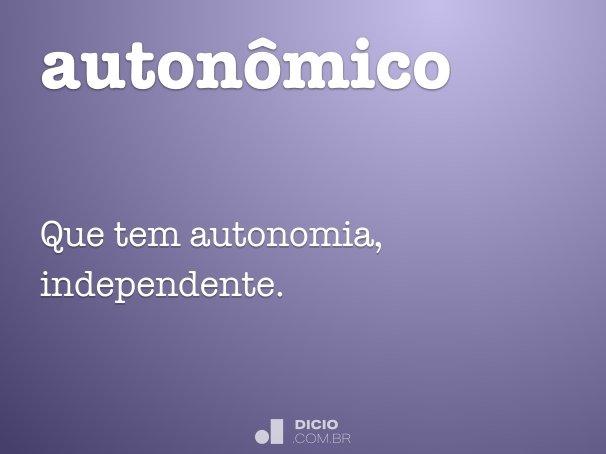 autonômico