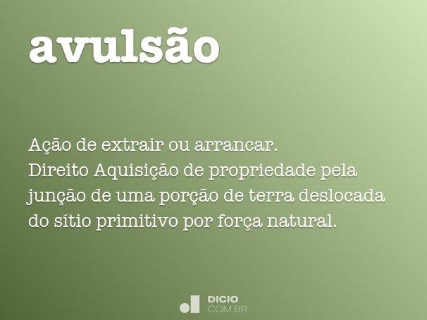 avulsão