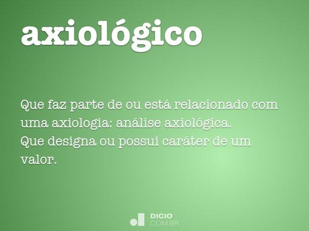 axiológico