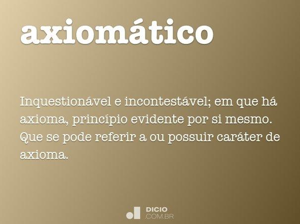 axiom�tico