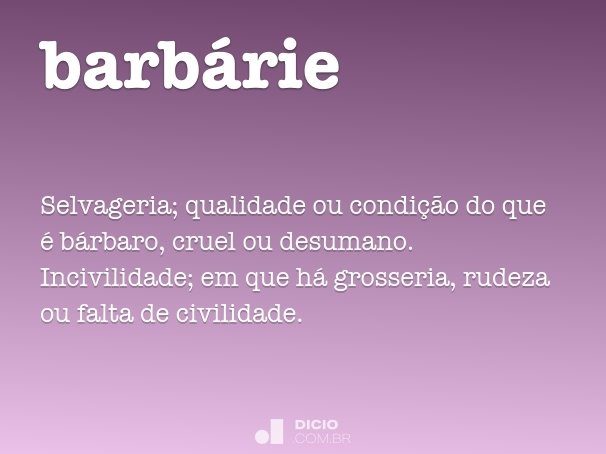 barb�rie