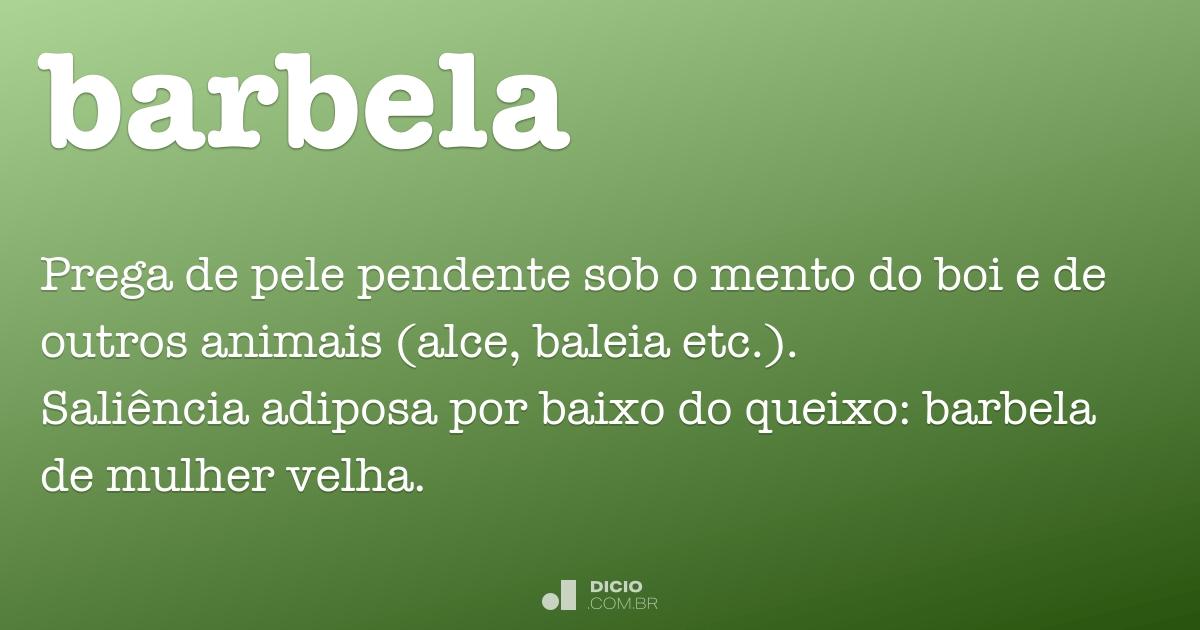Barbela - Dicio 4f891a7957c