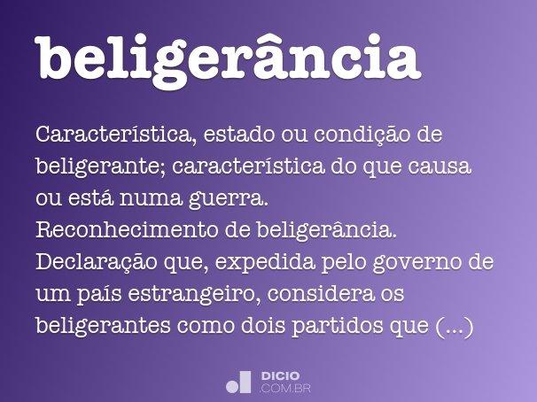 beligerância