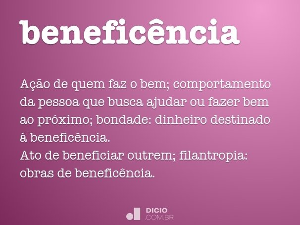benefic�ncia