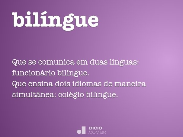 bilíngue