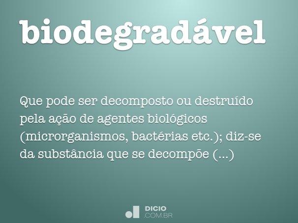 biodegrad�vel