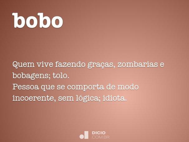 Bobo Dicio Dicionário Online De Português