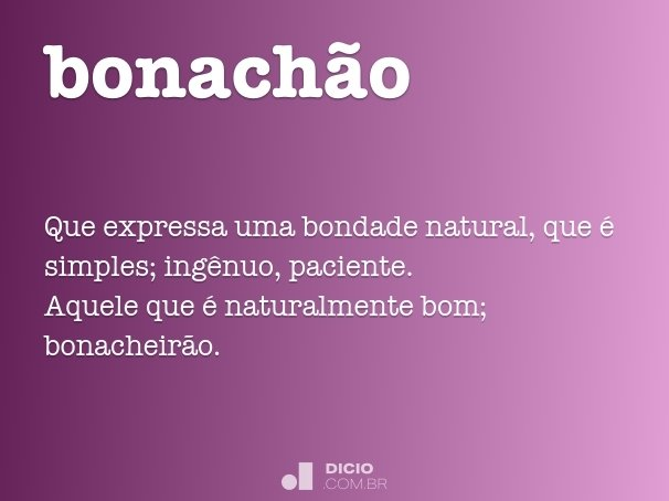 bonachão