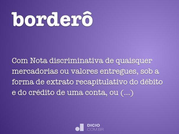 borderô