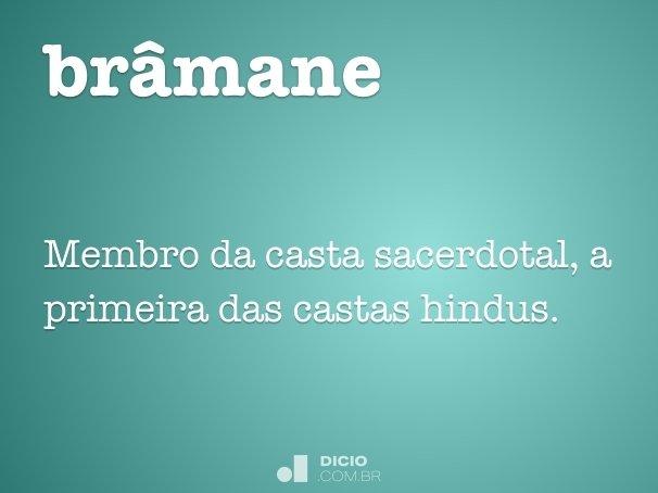 brâmane