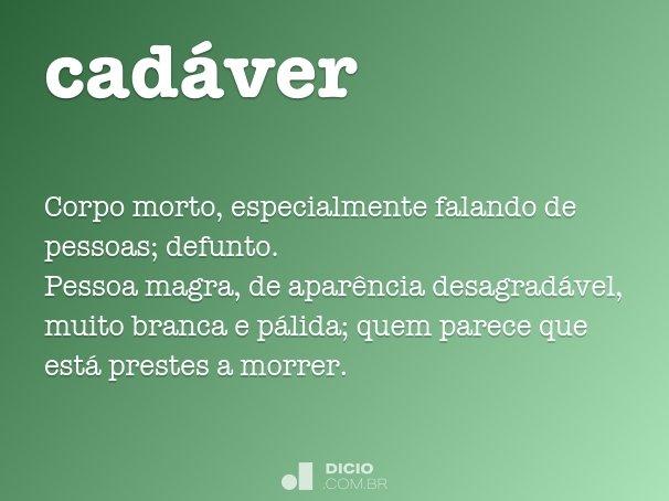 cad�ver