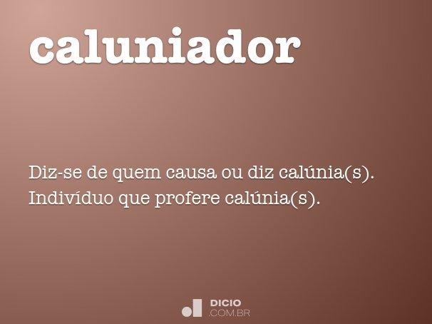 caluniador