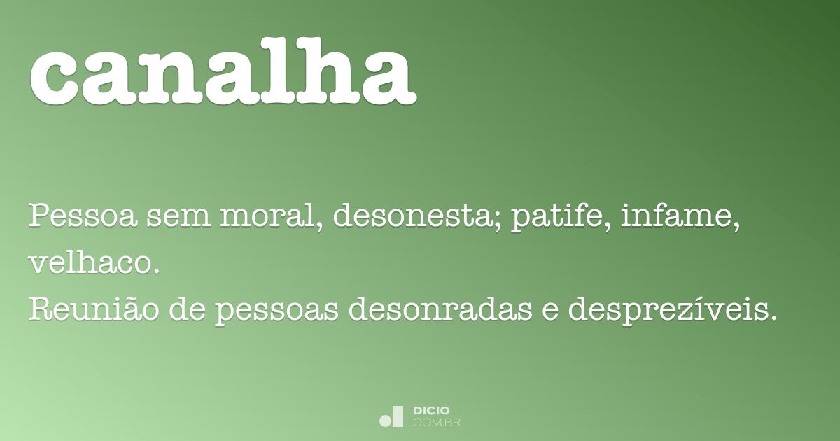 Canalha - Dicio, Dicionário Online de Português