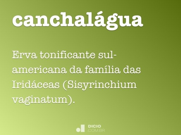 canchalágua