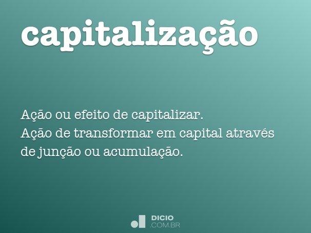 capitaliza��o