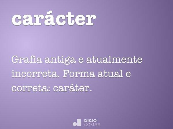 car�cter