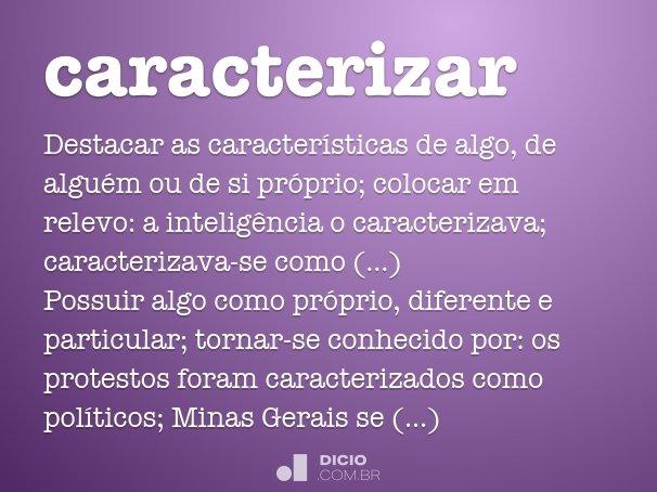 caracterizar